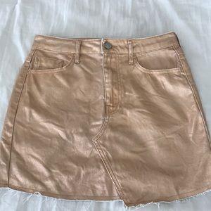 Rose Gold miniskirt